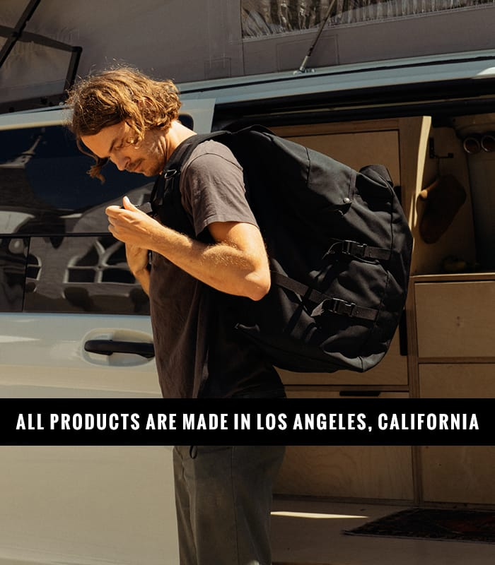 ALL PRODUCTS ARE MADE IN LOS ANGELES, CALIFORNIA